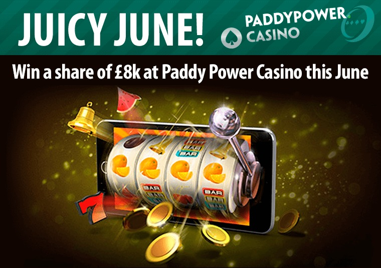 Win a share of £8k at Paddy Power Casino this June