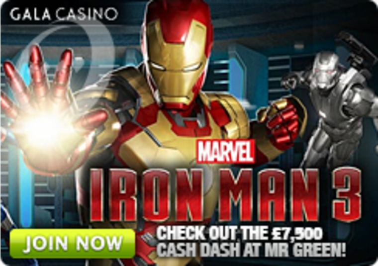 Play Iron Man 3 at Gala Casino and Get Double Comp Points