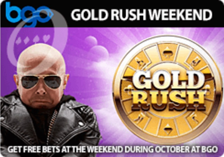 Get free bets at the weekend during October at bgo