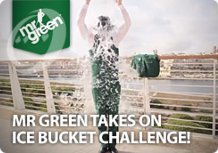 Mr Green Takes On Ice Bucket Challenge