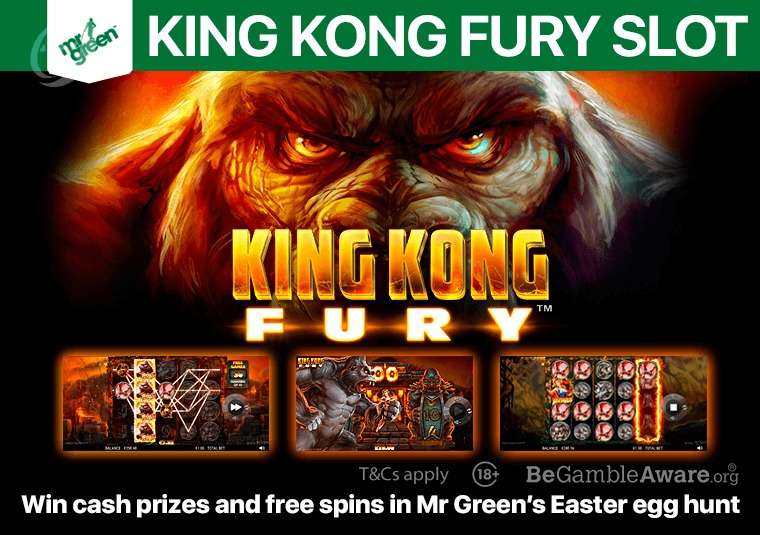 Play the new King Kong Fury slot at Mr Green