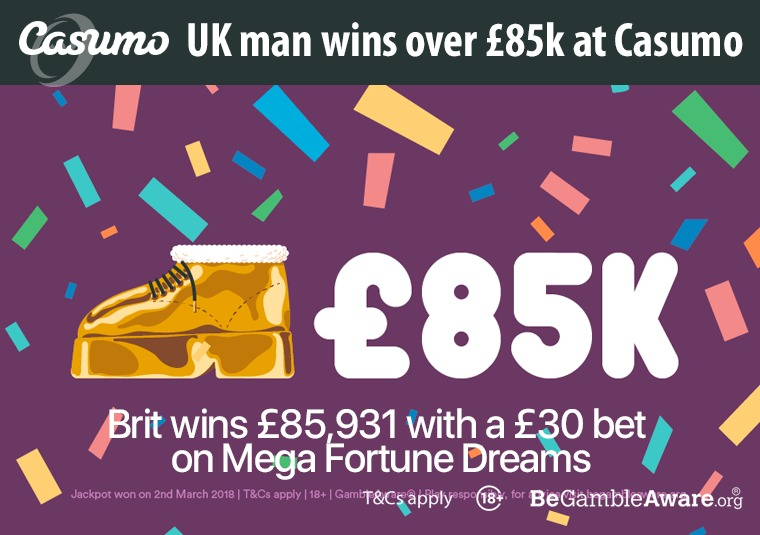 UK man wins over £85k at Casumo