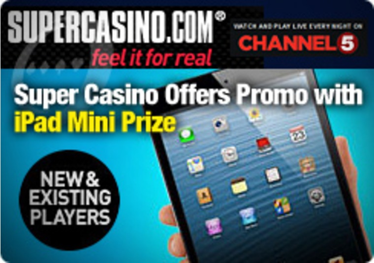 Super Casino Offers Promo with iPad Mini Prize