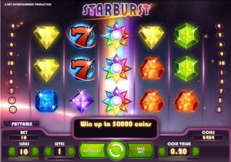 New Game Starburst Bursts into Mr Green Casino