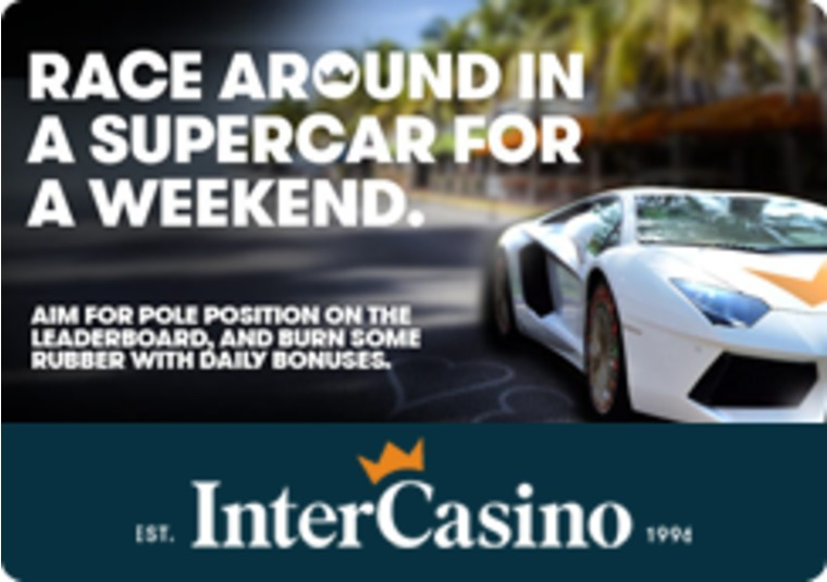 Top the InterCasino InterPoints table and drive away in a super car