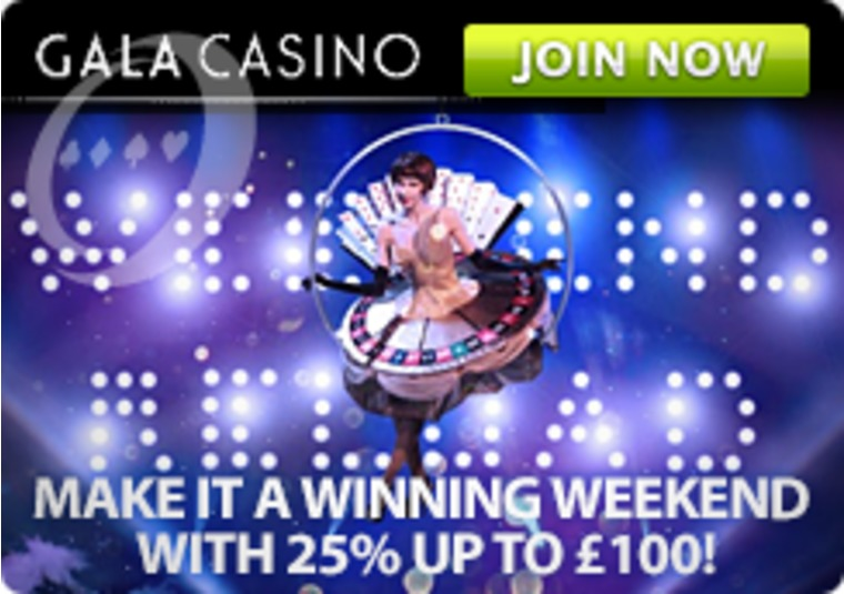 Get the Fantastic Weekend Winner Reload Offer Only at Gala Casino
