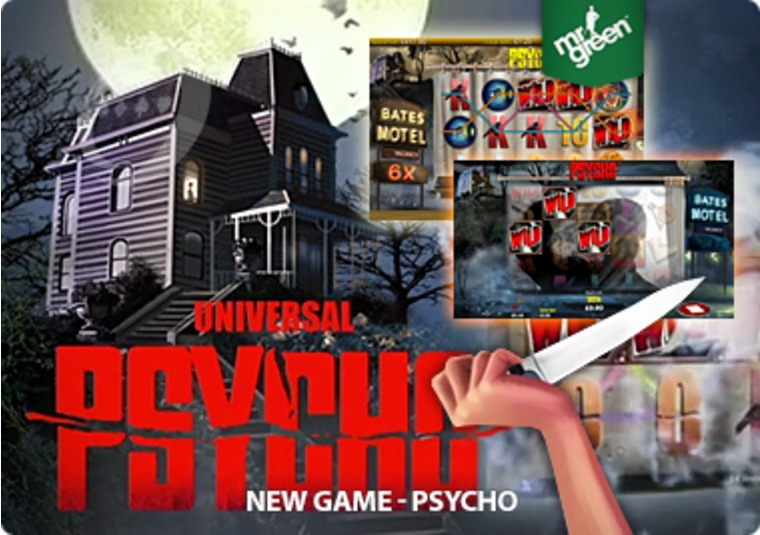 Survive and win on the Psycho slot at Mr Green Casino - if you dare