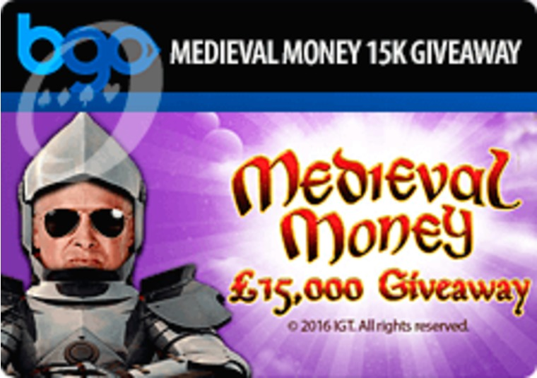Win your share of £15k in bgo's Medieval Money giveaway