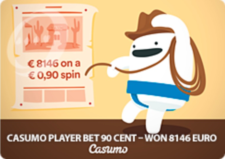 Player bets 90 cents on a Casumo slot, wins over £8k