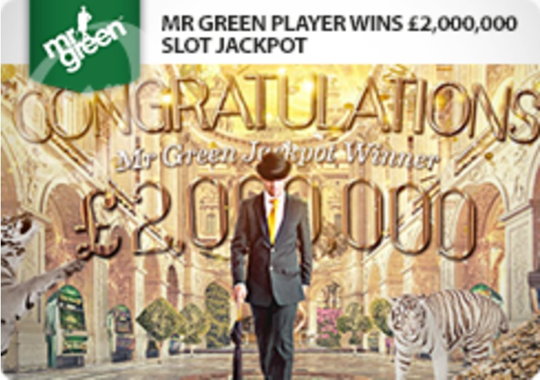 Mr Green player wins £2 million, and you could too