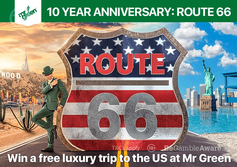 Win a free luxury trip to the US at Mr Green