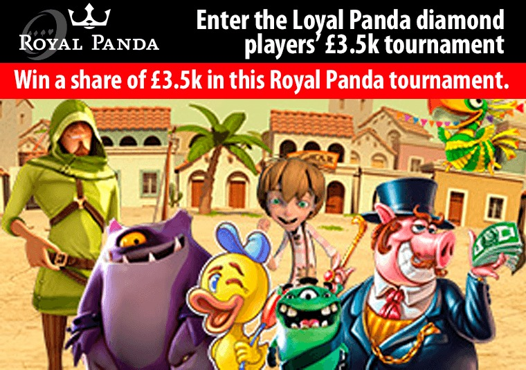 Win a share of £3.5k in this Royal Panda tournament