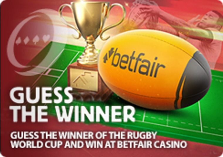 Guess the winner of the Rugby World Cup and win at Betfair Casino