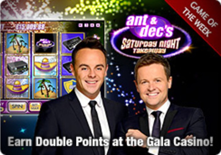 Earn Double Points at the Gala Casino