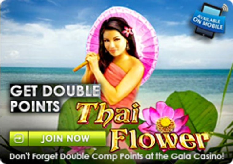 Play Thai Flower at the Gala Casino for Double Points