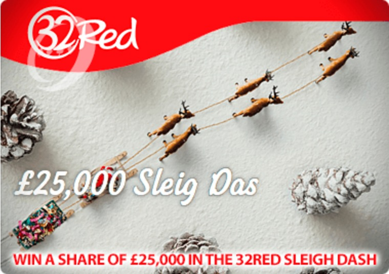 Win a share of £25,000 in the 32Red Sleigh Dash