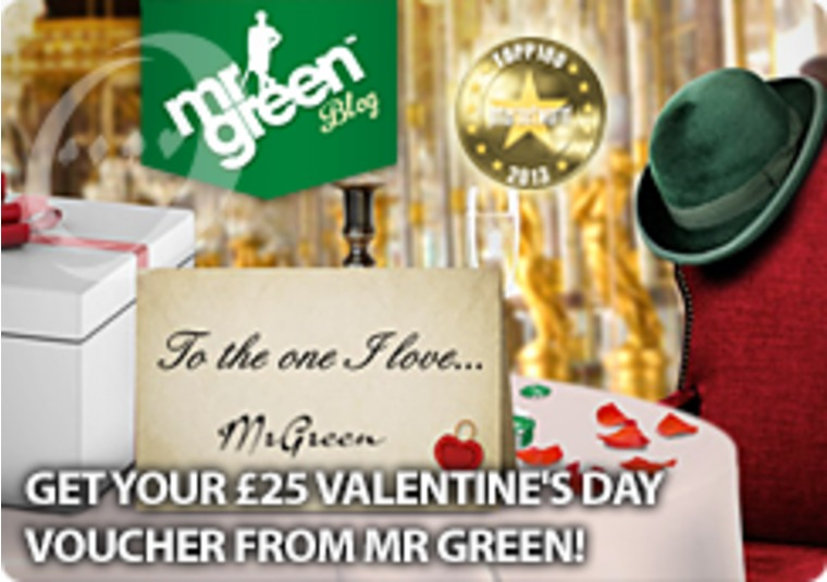 Get your £25 Valentine's Day Voucher from Mr Green