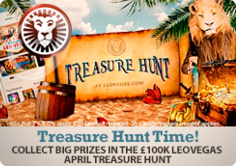 Collect big prizes in the £100k LeoVegas April Treasure Hunt