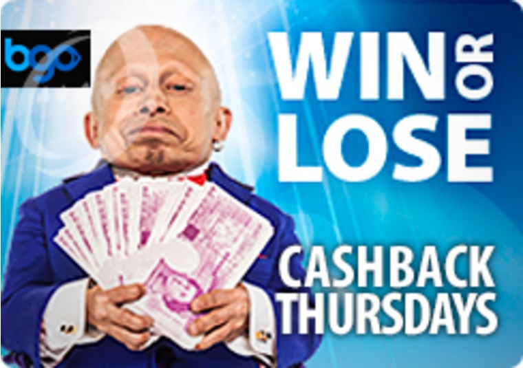 Get up to £50 cashback every Thursday at the bgo live casino