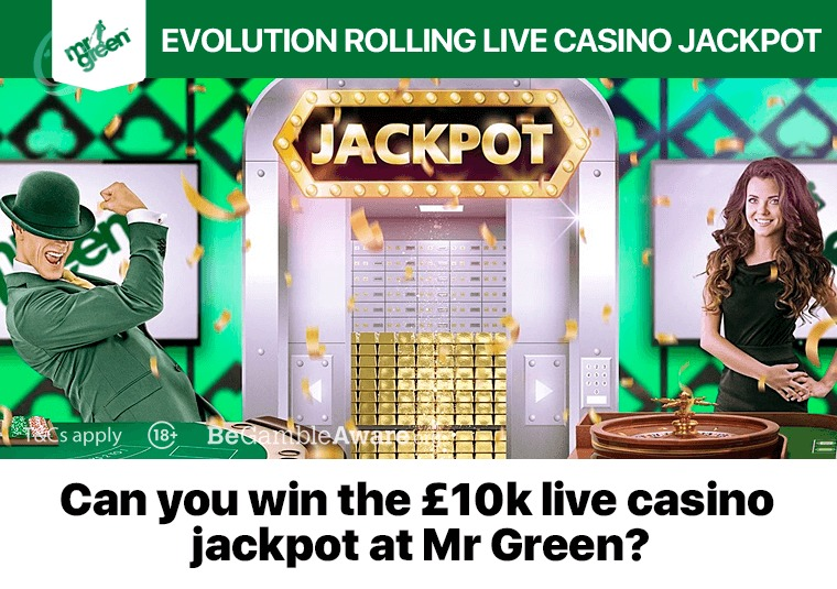 Can you win the £10k live casino jackpot at Mr Green