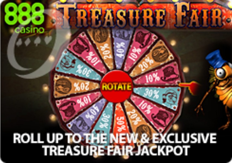 Get up to £1,000 in Free Play at the Treasure Fair at 888 Casino