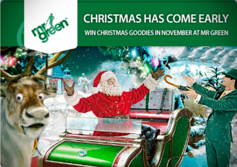 Win Christmas goodies in November at Mr Green