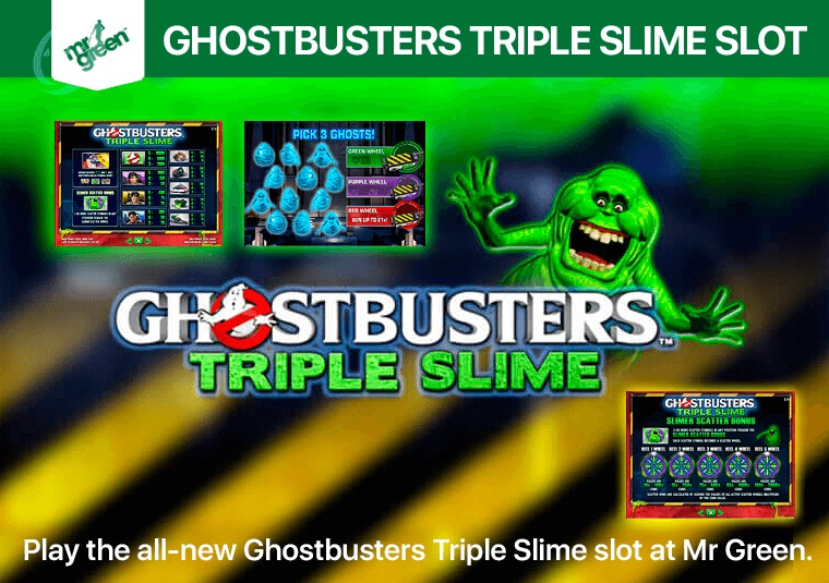 Play the all-new Ghostbusters Triple Slime slot at Mr Green