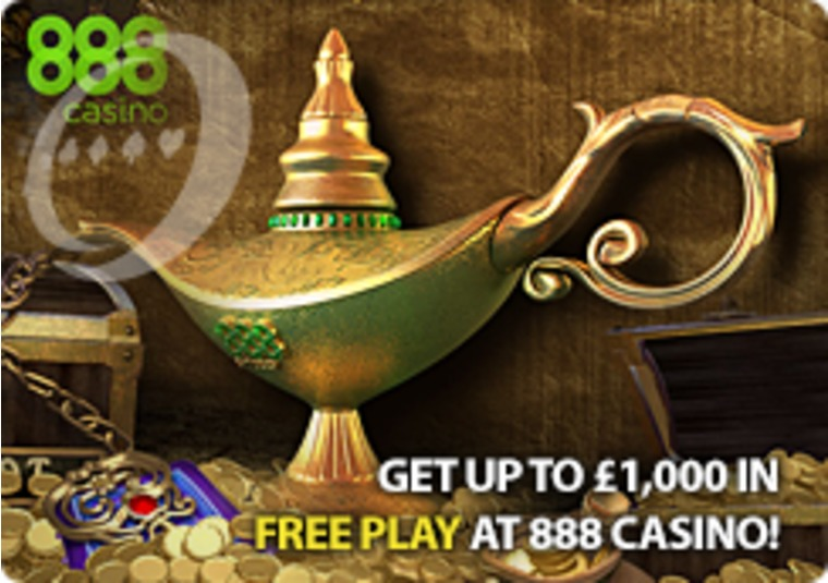Get Up to £1,000 in Free Play at 888 Casino