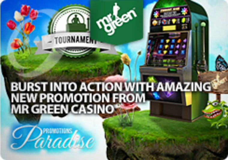 Burst into action with amazing new promotion from Mr Green Casino