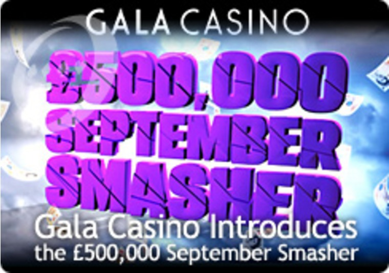 Gala Casino Introduces the £500,000 September Smasher