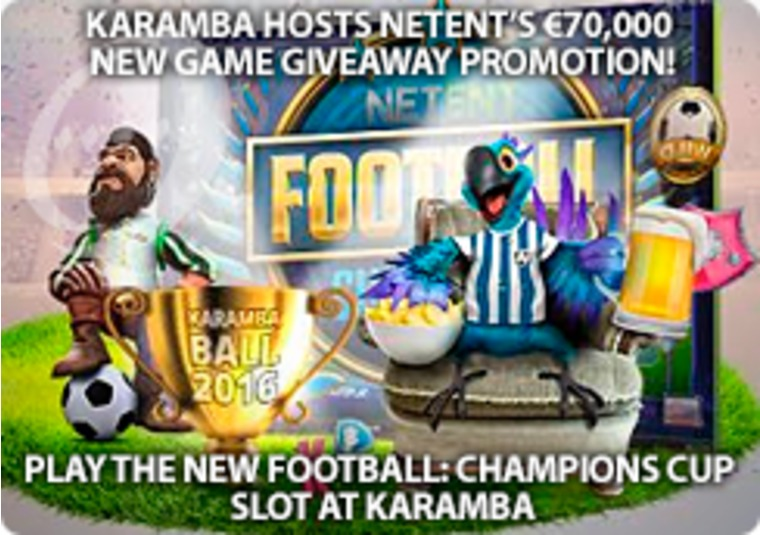 Play the new Football: Champions Cup slot at Karamba