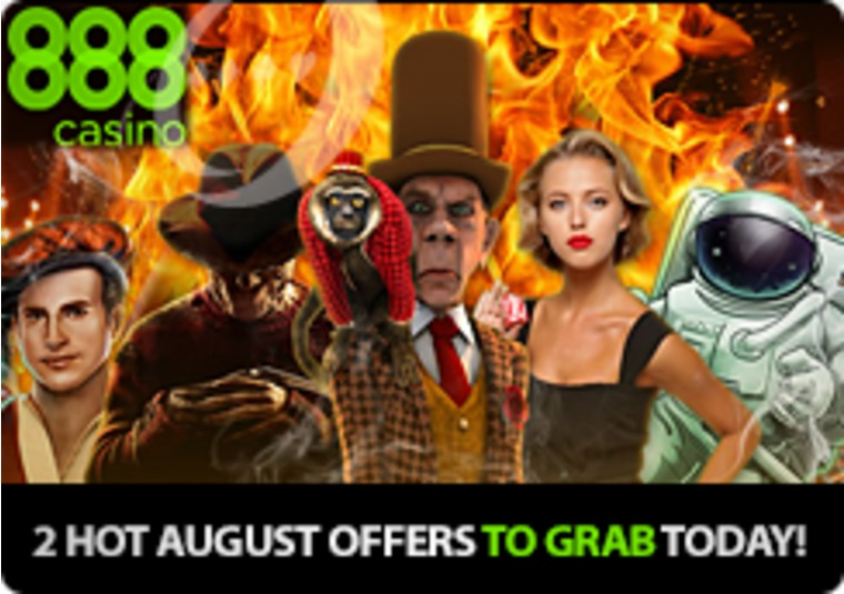 Forget the bad August weather with these 2 HOT offers from 888casino