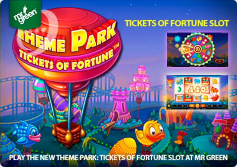 Play the new Theme Park: Tickets of Fortune slot at Mr Green