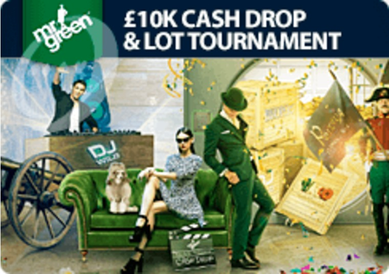 Win a share of £10k in Mr Green's cash drop and tournament promotion