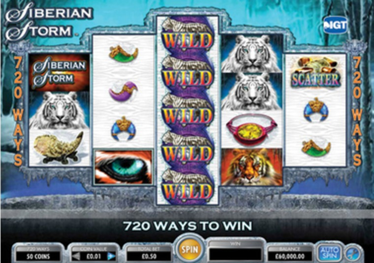 Siberian Storm New Game at Virgin Casino