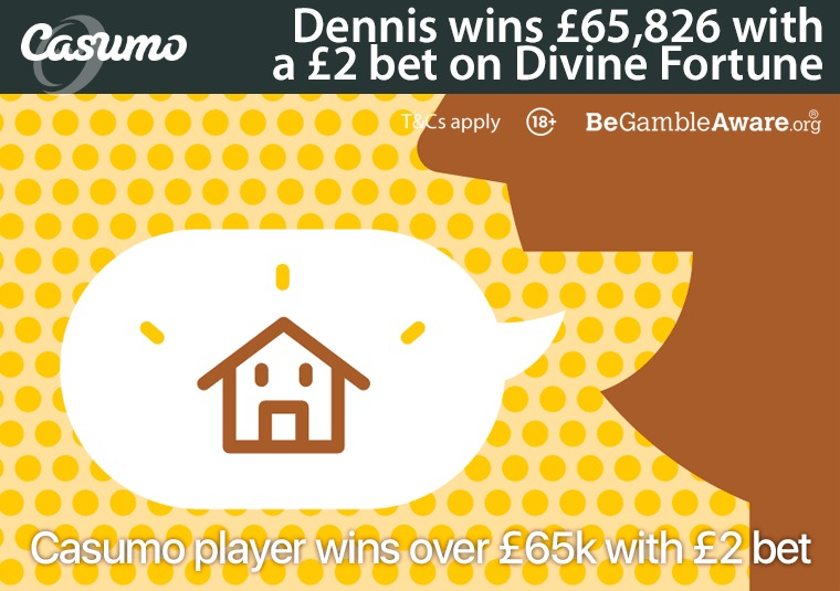 Casumo player wins over £65k with £2 bet