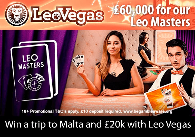 Win a trip to Malta and £20k with Leo Vegas