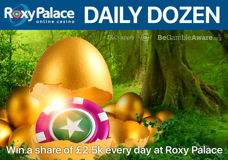 Win a share of £2.5k every day at Roxy Palace