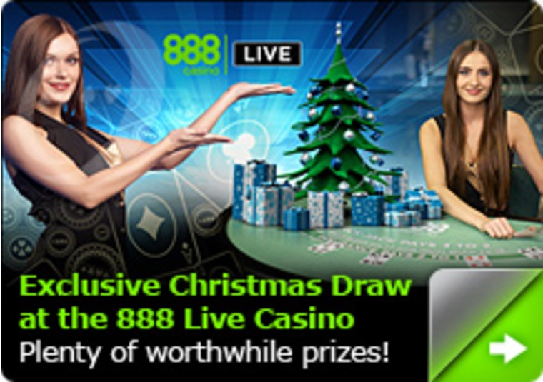 Exclusive Christmas Draw at the 888 Live Casino