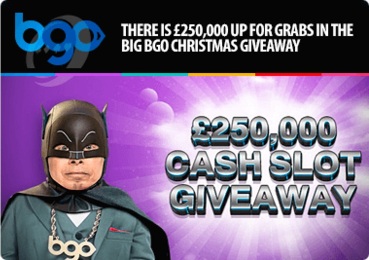 There is £250,000 up for grabs in the big bgo Christmas giveaway