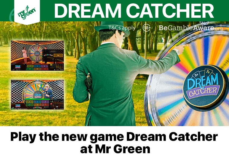 Play the new game Dream Catcher at Mr Green