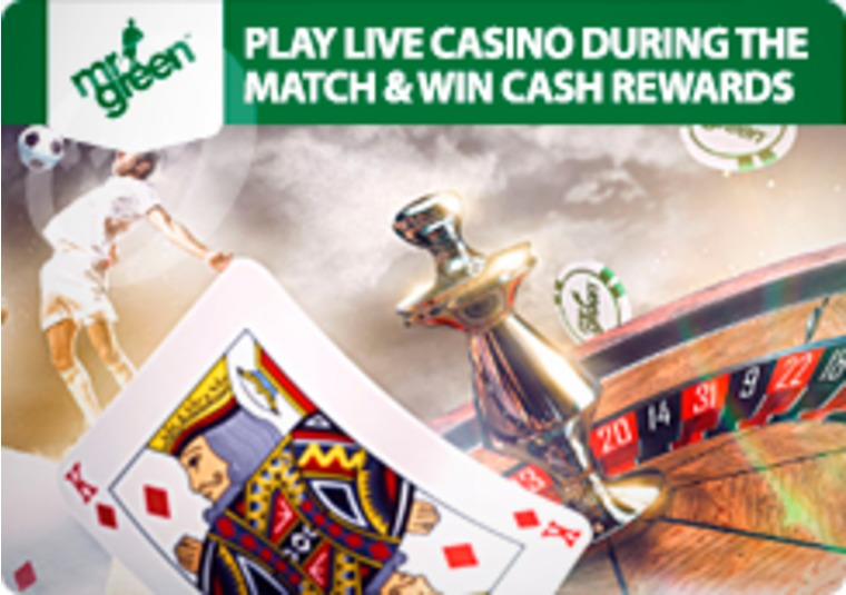 Win cash rewards playing at Mr Green's live casino during Euro 2016