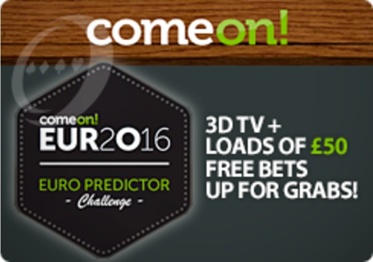 Predict the match scores at Euro 2016 to win a 3D TV at ComeOn