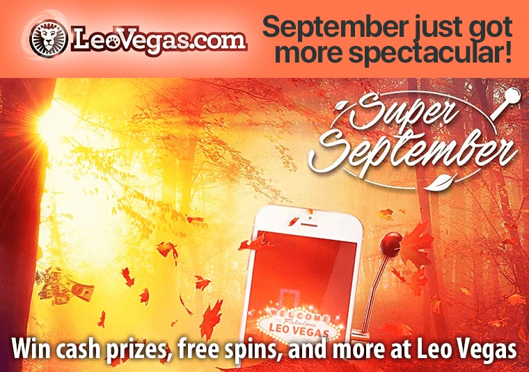 Win cash prizes, free spins, and more at Leo Vegas