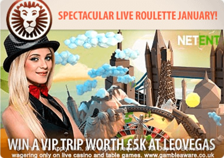 Win a VIP trip worth £5k at LeoVegas