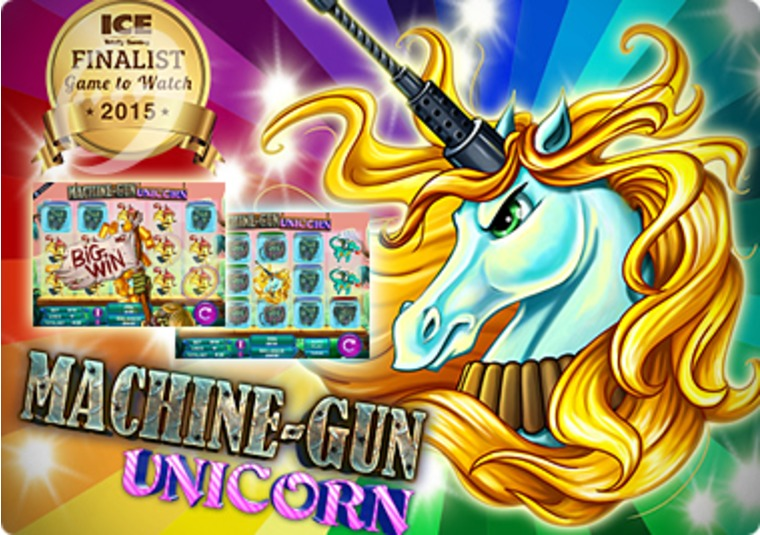 Play one of Mr Green's most unusual new slots - Machine Gun Unicorn