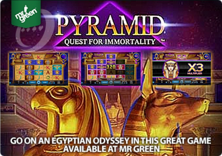 Go on an Egyptian odyssey in this great game available at Mr Green