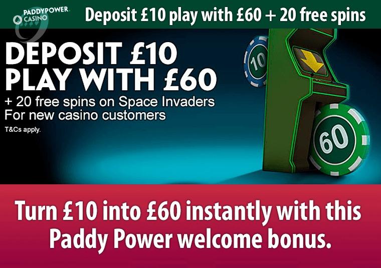 Turn £10 into £60 instantly with this Paddy Power welcome bonus