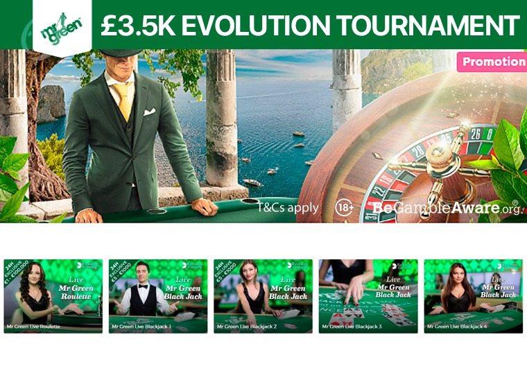 Take part in a £3.5k tournament at Mr Green