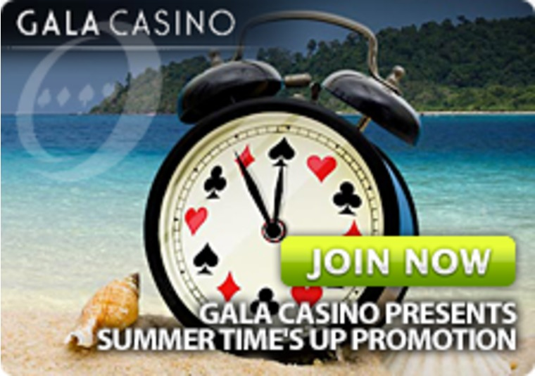 Gala Casino Presents Summer Time's Up Promotion